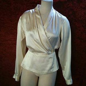 VINTAGE Evan  Picone Blouse 100% silk